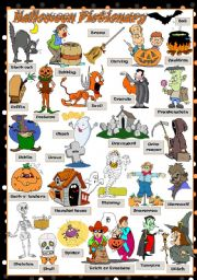 English Worksheet: Halloween Pictionary