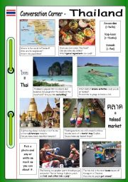 English Worksheet: Conversation Corner: Thailand