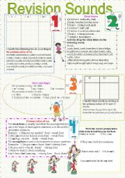 English Worksheets: Revision sounds