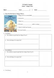 The Happy Prince - Oscar Wilde worksheets