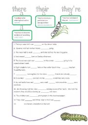 english worksheet there their they re. Black Bedroom Furniture Sets. Home Design Ideas