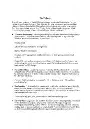 English Worksheets: fallacies