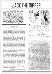 English Worksheets: Halloween - Jack the Ripper - 2 of 3