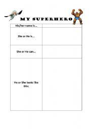 english teaching worksheets superheroes. Black Bedroom Furniture Sets. Home Design Ideas