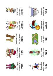 English Worksheet: Read! Spell! Do! playing cards (30 cards) Adverbs and Adjectives 6