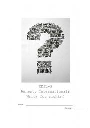 English Worksheets: Write for rights: Amnesty International