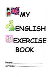 English Worksheets: English exercise book cover