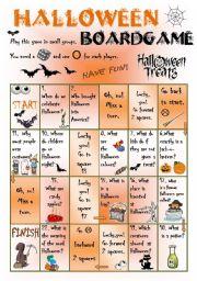 English Worksheets: HalloweenBG