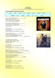 English Worksheet: 21 Guns - Green Day