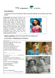 English Worksheet: Alicia Keys - Unthinkable (conditionals revision)
