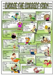English Worksheet: mixed tenses