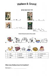 English Worksheets: Wallace and Gromit, The Wrong Trousers