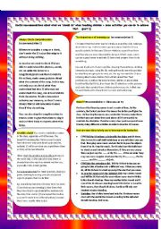 English Worksheets: Some tips on how to work with young learners + activities.