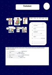 English Worksheets: present continuo