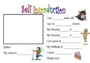 Self-Introduction mingle activity - ESL worksheet by Scubes