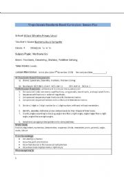 English Worksheets: Math Lessons
