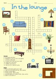 In the lounge - Crossword puzzle