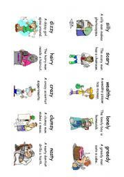 English Worksheet: Read! Spell! Do! playing cards (30 cards) Adverbs and Adjectives 7