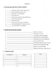 English Worksheets: revision