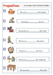 prepositions and directions esl resources