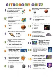 astronomy worksheets - photo #46