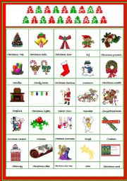 Christmas Pictionary.Christmas Pictionary Esl Worksheet By Coyote Chus
