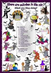 English Worksheets: There are witches in the air...