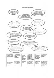 English Worksheets: Expressions with MIND