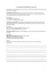 English teaching worksheets: Conjunctions