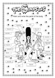 English Worksheet: The Simpsons Family Halloween