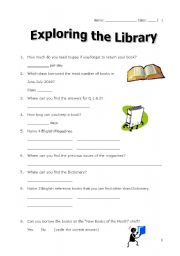 image about Work Sheet Library identify English worksheets: library