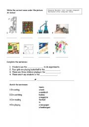 English Worksheets: Matching, completing and writing