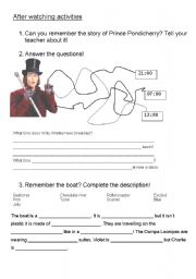 charlie and the chocolate factory - worksheet by nanadia