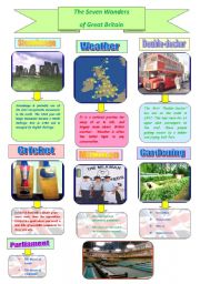 English Worksheet: The Seven Wonders of Great Britain