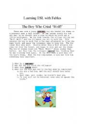Teaching with Fables: The Boy Who Cried Wolf