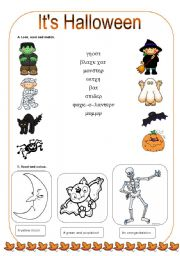 English Worksheets Halloween