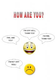 English Worksheets: HOW ARE YOU