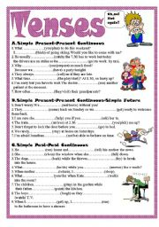 English Worksheets: Tenses