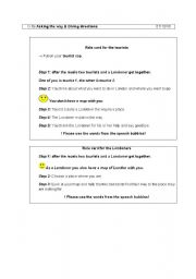 English Worksheet: asking for the way and giving directions