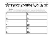 Printables Practice Spelling Words Worksheets english teaching worksheets spelling word activity