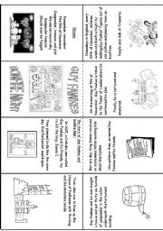 English worksheet: Guy Fawkes and Bonfire Night Mini Book