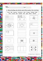 Color and name the flags