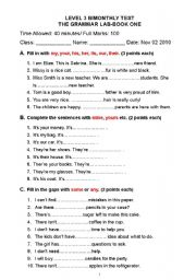 English Worksheet: some / any / many/ much / a lot of