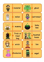English Worksheets: halloween dominoes (reedit)