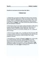 English Worksheets: Clown care