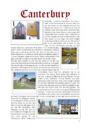 English Worksheets: Trip through Canterbury
