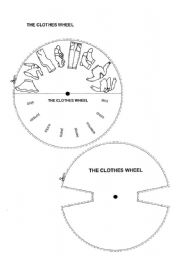English Worksheets: The clothes wheel