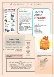 English Worksheet:  Cooking step.