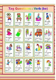 English Worksheets: Tag Questions - verb (be)