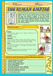 English Worksheet: ROMAN EMPIRE FOR CHILDREN